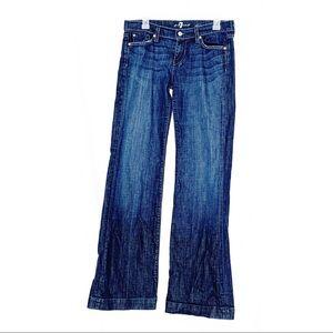 7FAMK Dojo denim wide leg jeans size 30